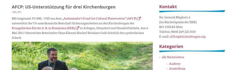 Amerikanischer Botschafter Hans Klemm in Hundertbücheln